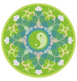 yoga mandala with silhouettes in yoga poses vector image vector image