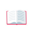 open book with text icon vector image