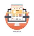 Web Design and Development vector image