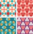 hearts pattern Valentine vector image