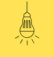 hanging thin line led bulb vector image