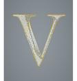 Abstract golden letter V vector image