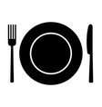 fork knife and plate vector image