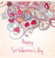 st valentine day card vector image