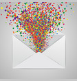 an envelope with a colorful abstract vector image
