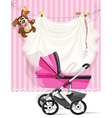 baby shower pink card vector image vector image