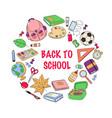 back to school template set of school accessories vector image vector image