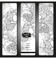 Breakfast banners Tea and coffee hand drawn vector image