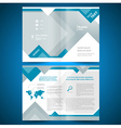Brochure geometric triangle rhombus abstract vector image