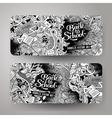 Cartoon doodles school banners vector image vector image