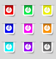 CD or DVD icon sign Set of multicolored modern vector image vector image