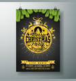 christmas party flyer design with glittered vector image vector image