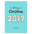 Christmas poster 2017 vector image vector image