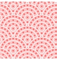 Circle With Heart Shape Seamless Pattern vector image