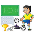 collection with soccer theme 1 vector image