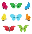 Colorful butterflies logos set vector image