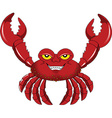 Crab cartoon vector image vector image