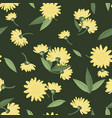 cute summer flowers seamless pattern tiny vector image vector image