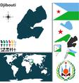 Djibouti map world