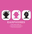 Earphones EPS10 vector image vector image
