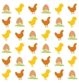 egg chicken and hen seamless pattern vector image