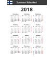 finnish calendar for 2018 scheduler agenda or vector image vector image