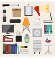 Flat icons office business collection set 2 vector image