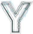 Font letter Y vector image vector image