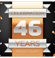 Forty six years anniversary celebration golden and vector image vector image