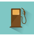 gas station icon retro vector image vector image