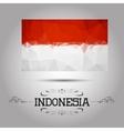 Geometric polygonal Indonesia flag