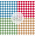 gingham set1 vector image