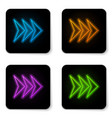 glowing neon arrow icon isolated on white vector image vector image