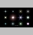 glowing star lights effect lens flare and bright vector image vector image