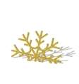 Golden Christmas snowflake vector image vector image