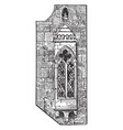 gothic oriel window or cantilupe chantry house vector image vector image
