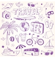 Hand drawn beach and travel doodles vector image vector image