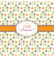 Hello Autumn background with decorative plants vector image