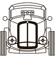 hot rod front view for cutting logo art object vector image vector image