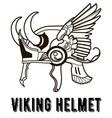 huge viking helmet vector image