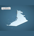 isometric 3d united arab emirates map concept vector image vector image