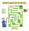 Job for children complete the maze and find lost vector image