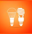 led illuminated lightbulb fluorescent light bulb vector image vector image