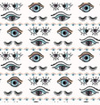 magic all seeing eye hand drawn seamless vector image