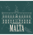 Malta landmarks Retro styled image vector image vector image