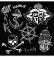 Marine design elements vector image