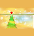 orange merry christmas vintage background with vector image