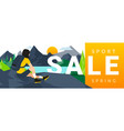 outdoor spring sale horizontal banner or flyer vector image vector image