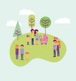 people activity park vector image