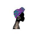 portrait beautiful woman shenbolen ankara turban vector image vector image